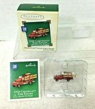 2004 Fire Brigade #1 1929 Chev Miniature Hallmark Christmas Tree Ornamen... - $9.41
