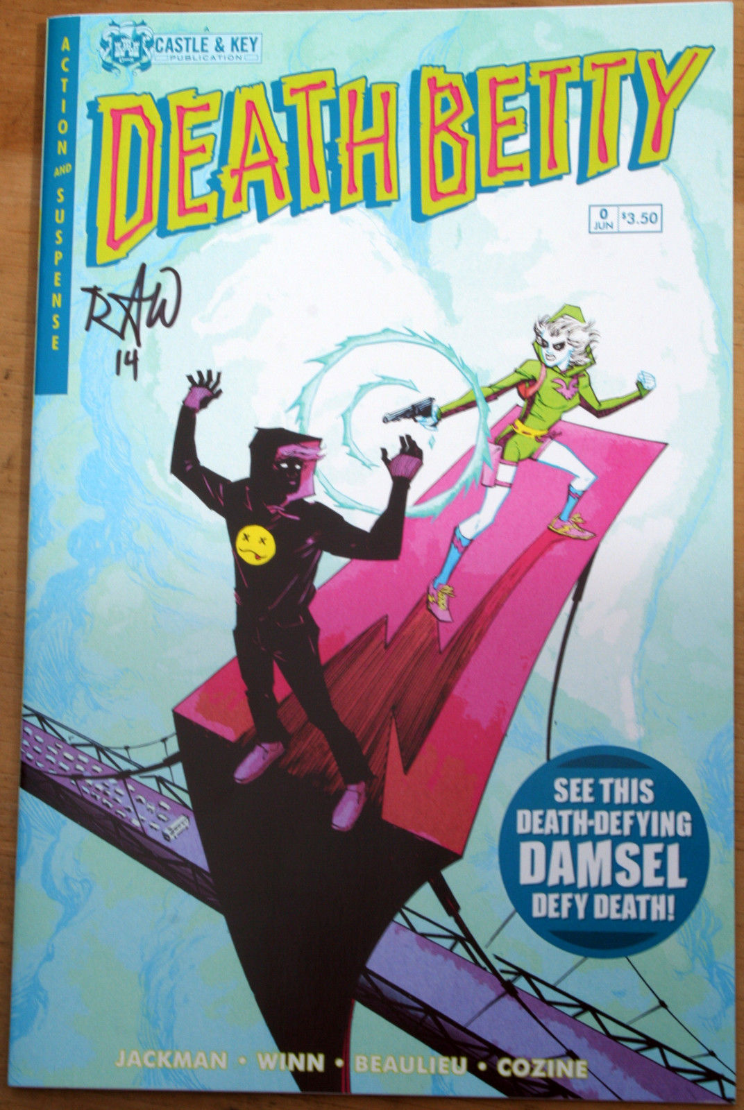 Primary image for Death Betty #0 Castle & Key signed Ryan Winn 2004 comic-con POP preview