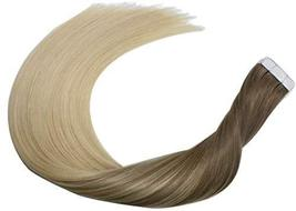 14Inch Tape in Hair Extensions Skin Weft Real Human Hair Extensions Double Sided image 3