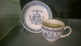 Staffordshire Old Granite Hearts & Flowers Johnson Bros. Cup & Saucer - $6.50