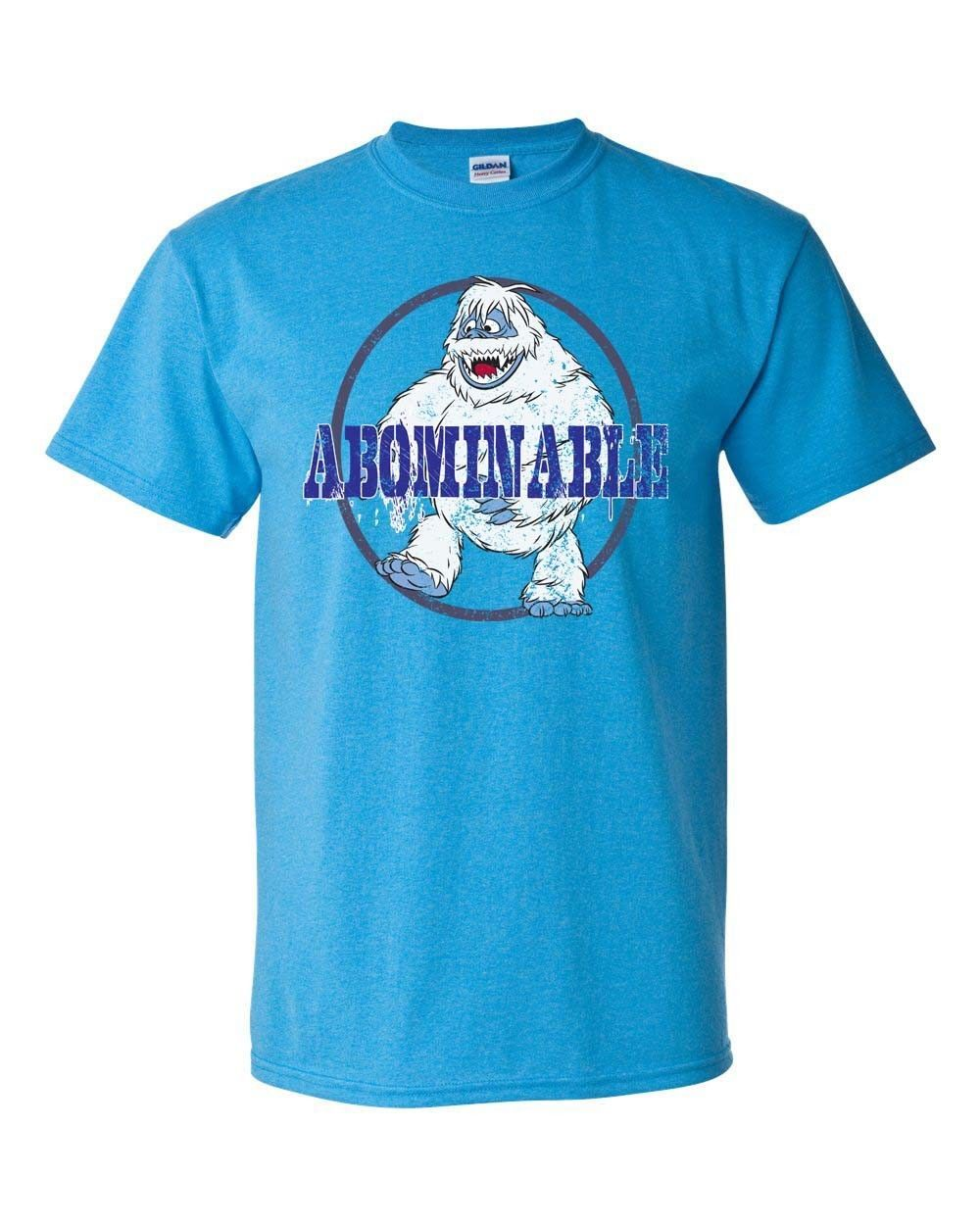 Abominable Snowman T-shirt retro 70s 80s Christmas special graphic blue tee