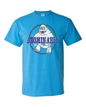 Abominable Snowman T-shirt retro 70's 80's Christmas special graphic blue tee image 1