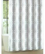 Tahari Milan Scroll Silver on White Shower Curtain - $33.00