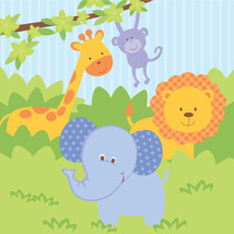 Forest Friends Lunch Napkins (16) - Birthday Party Supplies - $4.36