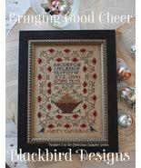Bringing Good Cheer #3 Christmas Sampler series cross stitch Blackbird D... - $10.80
