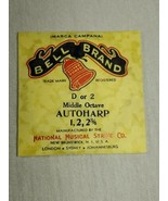 Bell brand AutoHarp Strings D or 2 middle octave 1, 2, 2 3/4 (a12-3) - $14.85