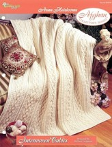 Interwoven Cables Afghan TNS Aran Heirlooms Crochet PATTERN/INSTRUCTIONS... - $8.07