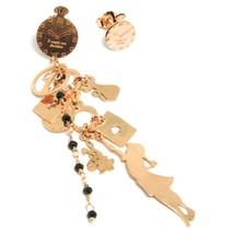 Drop Earrings Silver 925, Alice, Cards, Rabbit, Cat, Key, le Favole image 1