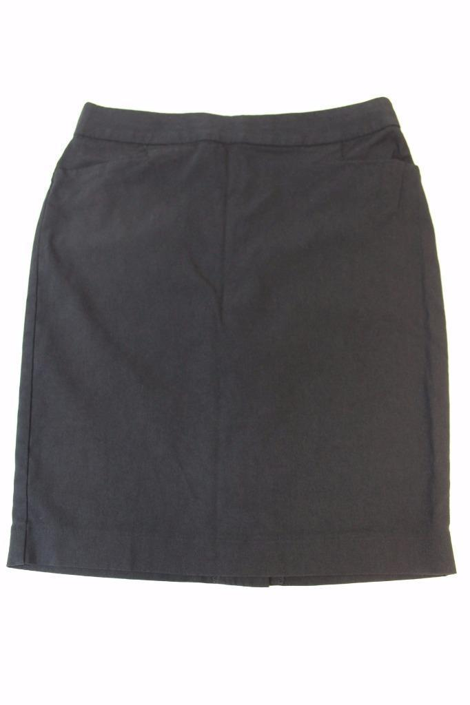W13120 Womens EXPRESS DESIGN STUDIO Black STRETCH Button Pencil STRAIGHT SKIRT 2