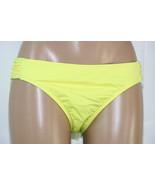 NEW Bar III Pineapple Solid Ruched Sash Tab Hipster Bikini Swim Bottom X... - $14.80