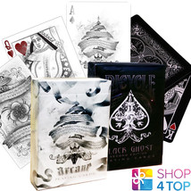 2 DECKS BICYCLE ELLUSIONIST 1 GHOST BLACK 2ND AND 1 ARCANE WHITE PLAYING... - $22.46