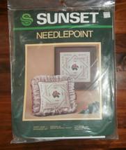 """Ivory Lace Needlepoint Kit Sunset 12"""" x 12"""" - $15.47"""