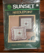 "Ivory Lace Needlepoint Kit Sunset 12"" x 12"" - $15.47"