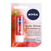 Pure Natural NIVEA Fruity Shine Strawberry Lip Balm-4.8 Gms - $18.26