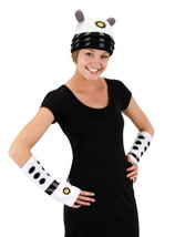 Doctor Who White Dalek Image Knitted Licensed Beanie Hat and Arm Warmers... - $26.61