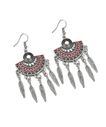 BAHYHAQ - Vintage Tassel Feather Sector Drop Earring Ethnic Jewelry Whol... - $4.22