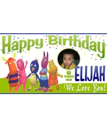 Backyardigans Custom -Personalized- Birthday Banner -w/ Pic - $39.95