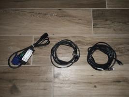 Dell Kvm PS2 Vga To RJ45 Sip 0K9442 & Kvm Patch Cables RJ45 00R717 02R512 Server - $12.50