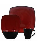 Gibson Elite Soho Lounge Square 16-Piece Dinnerware Set, Red - $77.17