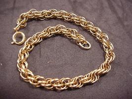 Charm Bracelet 1/20 12KGF Twisted Multi Link Vintage Gold Filled - $34.65