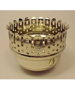 """3"""" Lamp Chimney Holder Brass Plated with Side Key Hole Part Student Chan... - $10.95"""