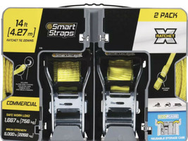 "SmartStraps Padded Deluxe Tie-Down 1.5""x14' 2 Pk 5000Lb - $18.31"