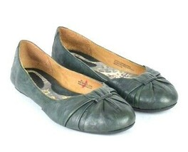 Born Green Leather Smoking Ballet Flats Shoes Slip On Womens Size US 8.5... - $22.76