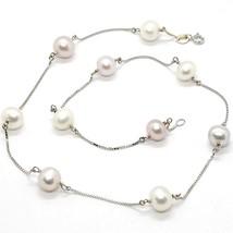 Collar Oro Blanco 18K, Perlas & Violeta Lavanda, Alternate, Cadena Veneciano image 1