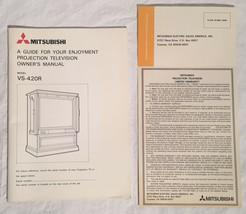 Vintage MITSUBISHI VS-240R Projection Television TV Manual & Warranty Card - $9.89