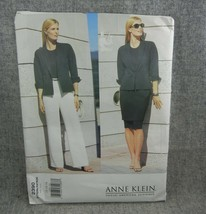 Vogue 2390 Misses 12-16 Miss Petite Anne Klein Jacket Skirt Pants tapere... - $9.03