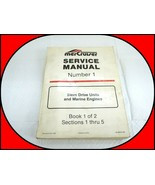 MerCruiser Stern Drive Marine Service Manual Number 1; Book 1 of 2 Secti... - $19.75