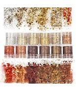 Laza 12 Colors Nail Art Acrylic Nails Glitter Mixed Powder Retro Copper ... - $35.99