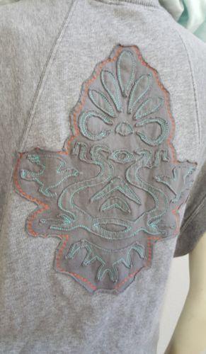 Free People gray Vest tie dye hoodie
