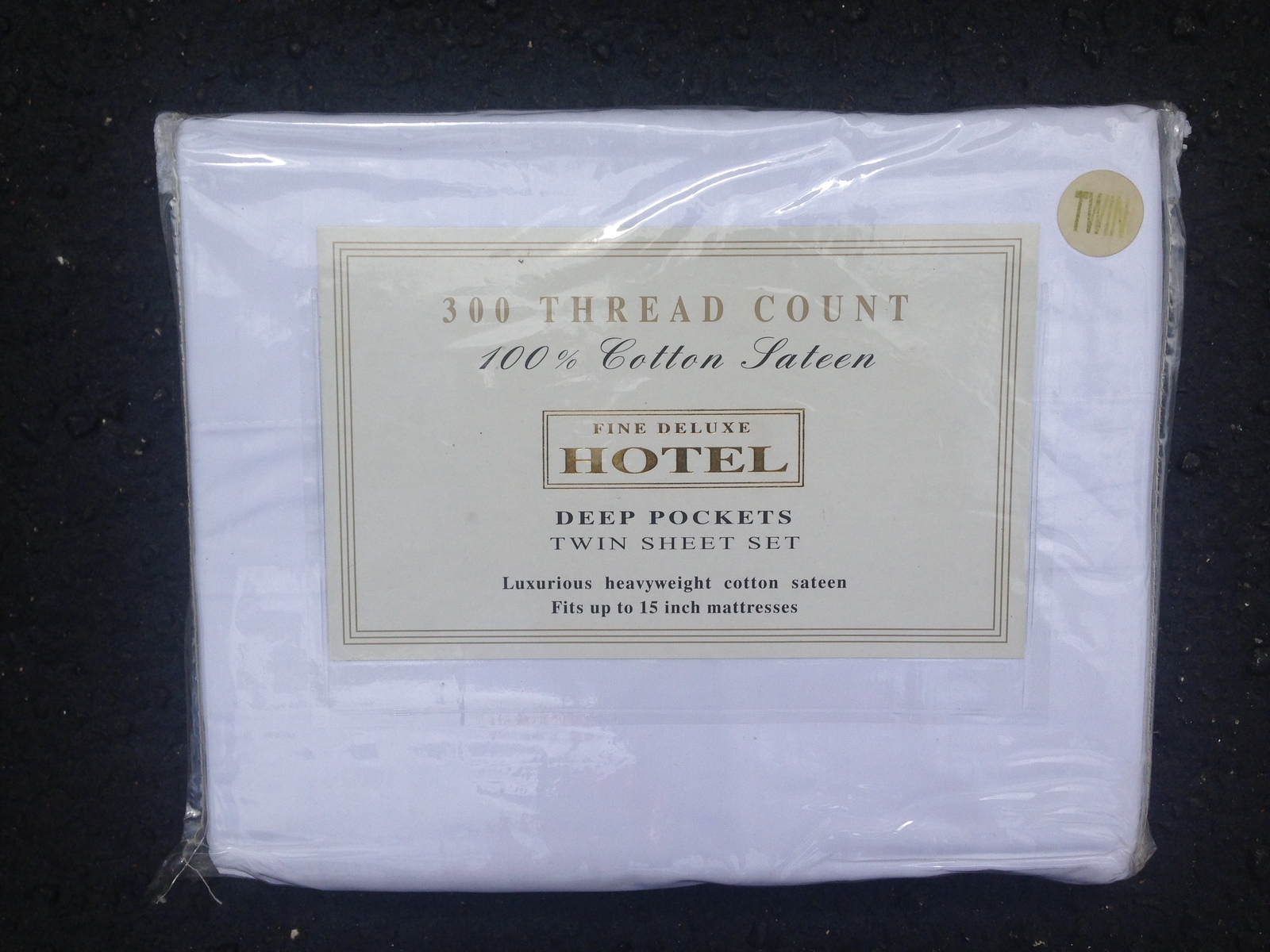Fine deluxe hotel full sheet set   white  2