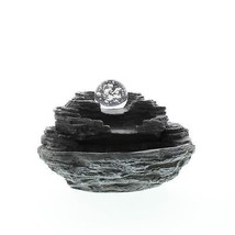 Water Fountain, Polyresin Rock Electric Tabletop Fountains Indoor For Home - $70.38