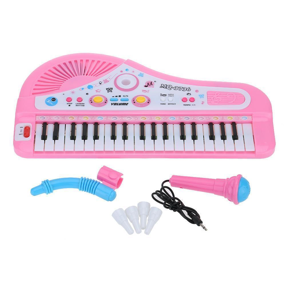 Kid Electronic Keyboard Educational Music Piano Toy With Mini Microphone 37 Keys