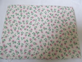 Cream & Pink Roses Floral Quilting Fabric JoAnn Fabrics 1 Yard - $8.70