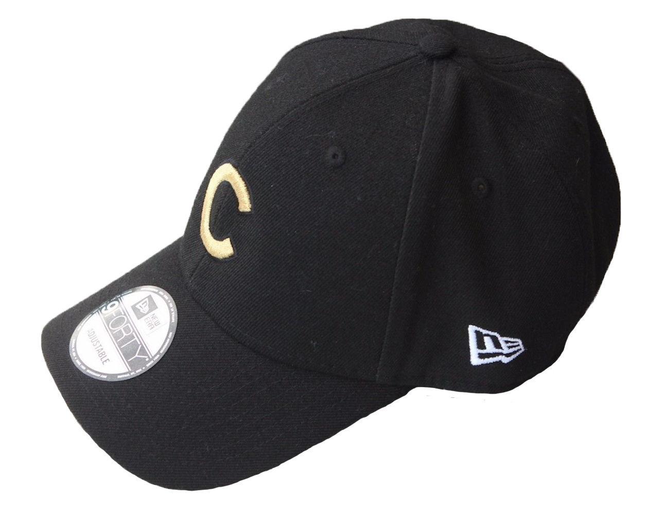 NEW ERA Chicago Cubs World Series Champions Adjustable Cap Black Gold Adult  MLB 3d73d5f36fc