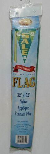 New Creative 20839 Nylon Applique Pennant Flag Sale Colors Green Yellow