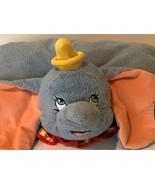 Disney Parks Dumbo Pillow Pet Plush Dream Friend Gray Disneyland Disney ... - $29.99