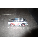 1969 Malaysia Hot Wheels Chevy Nomad Silver with Flames - $9.79