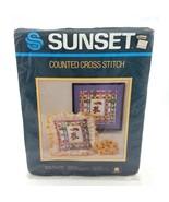 Sunset Bears Balloons Butterflies Counted Cross Stitch Sampler Kit 2964 NEW - £17.99 GBP