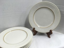 "5 Vintage Shenango China off white Dinner plates "" RimRol~VGC - $9.77"