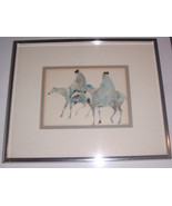 "1990 Carol Grigg ""Guardians"" Framed Reproduction Native Indian Litho Print - $74.99"