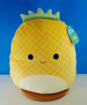 """Squishmallows Maui The Pineapple Fruit Squad 16"""" Kellytoy NEW - $37.62"""