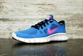 Womens Nike Free Run 5.0 Athletic Shoes Sz 8.5 40 B Used Blue White Athletic  - $29.69