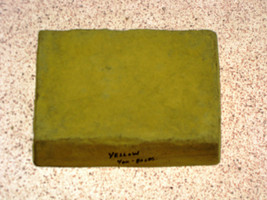 CONCRETE, CEMENT, PLASTER COLOR 1 LB. MAKES STONE, PAVERS, TILE, BRICK - YELLOW image 2