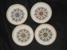 Lot of 4 Royal Worcester Beverage COASTERS Medallion Patterns - $14.84