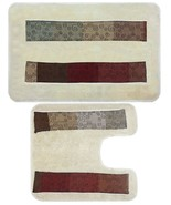 Popular Bath Miramar Bath Collection - Contour & Banded Bath Rug Set - $44.99