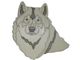 Wolf - intarsia Wood Carving - $132.00